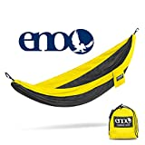 Eagles Nest Outfitters ENO SingleNest Hammock, Portable Hammock for One, Black/Yellow (FFP)