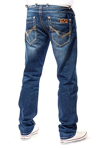 nbsp;L34 costura 0688 nbsp;W38 C Wear verwaschen Denim L30 Cargo nbsp;– Azul Club Hombre nbsp;L36 Jeans Pantalón nbsp;L32 de Chino nbsp;– Cipo amp; nbsp;– W29 nbsp;– azul grosor Baxx gw7qnFU