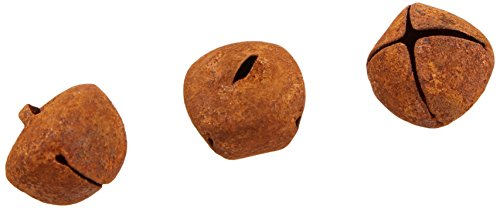 Darice Holiday Rusted Jingle Bells Value Pack-18mm-45 Pieces, 1 ()