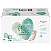 Pampers Pure Disposable Baby Diapers, Hypoallergenic and Fragrance Free Protection, Newborn Size N (< 10 lb), 68 Count