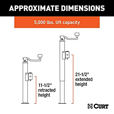 CURT 28350 Weld-On Pipe-Mount Swivel Trailer Jack, 5,000 lbs., 10-3/4 Inches Vertical Travel: Automotive