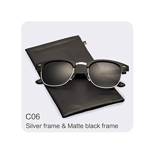 e1bcb94cfb Classic Half Metal Polarized Sunglasses Men Women Design Glasses Mirror Sun  Glasses Fashion