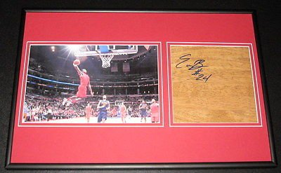 Eric Bledsoe DUNK Signed Framed Floorboard & Photo Display Kentucky Clippers
