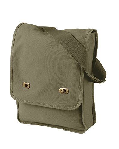 - Authentic Pigment 1902 Pigment-Dyed Canvas Field Bag Khaki Green One Size