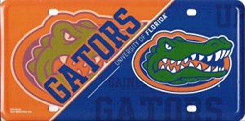 NCAA Florida Gators Metal License Plate Tag (Gator Dad License)