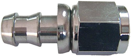 12 Roadrunner Performance PL12-12FJNP Anodized Push-On Hose Fittings Nickel Polished Straight