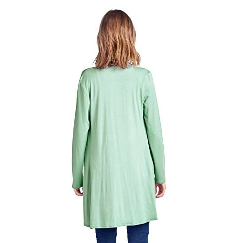12 Ami Longline Long Sleeve Open Cardigan (S-3X) - Made in USA