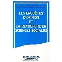 Enquête d'opinion et la recherche en sciences sociales Les