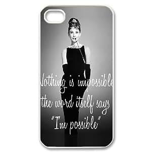 Audrey Hepburn Quotes Unique Design Cover Case for iPhone 5ccustom case cover ygtg-782214