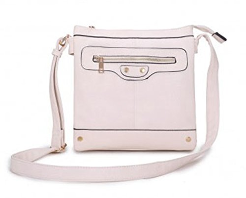 Bags Small POCKET D0023 LeahWard Ladies DOUBLE Handbags BEIGE Women's Body Cross Ladies Size Across wTYHYfqxdg