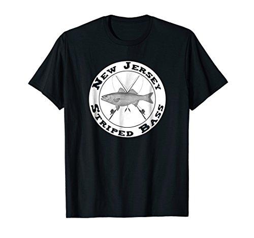 - New Jersey Striped Bass Fishing Novelty Gift T-Shirt