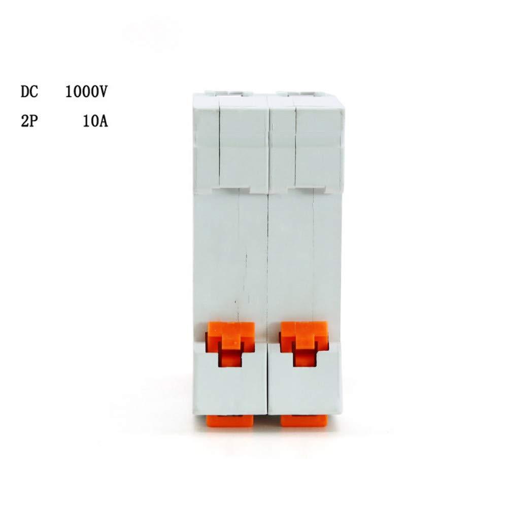DLQLBD Disyuntores Rendimiento Limitador De Corriente 2P Dc 1000V Disyuntor Solar Disyuntor Dc 10A 16A 25A 32A 40A 50A 63A Interruptor Mcb E375E
