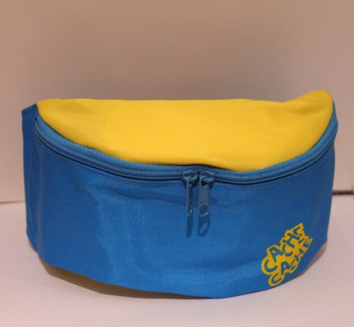 Blue & Yellow Waist Pack/Pouches with 2 Pockets and Belt with Clip