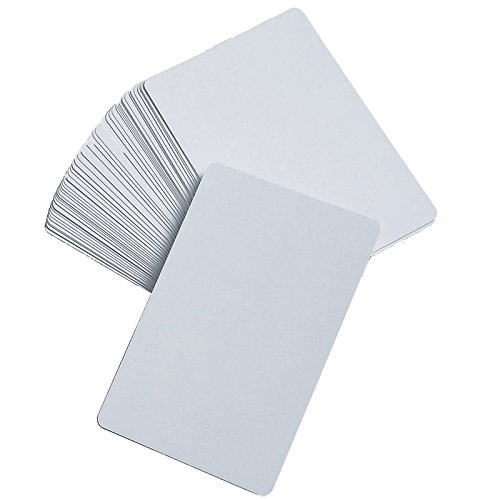 Blank Playing Cards, Glossy - DIY Game Cards, Memory Game, Flash Cards by Learning Advantage -
