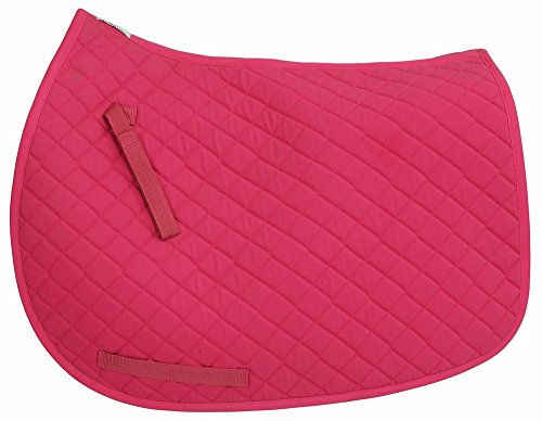 TuffRider Basic All Purpose Saddle Pad Hot (Pink Saddle Pads)