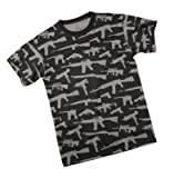 Rothco Multi Print Guns T-Shirt, Black, 3X