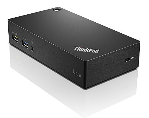 Lenovo Thinkpad USB 3.0 Ultra Dock-US 40A80045US (Super Speed USB 3.0, USB 2.0, HDMI, Display Port) by Lenovo