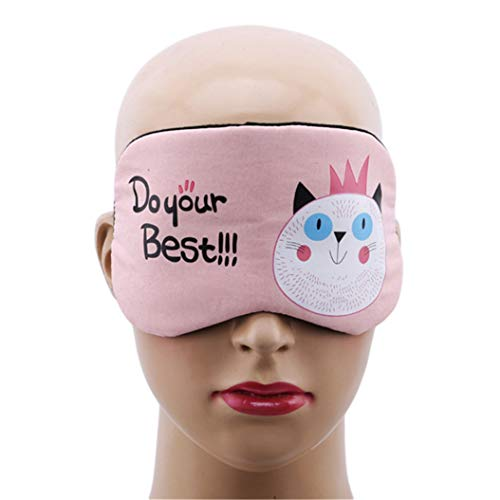 LZIYAN Sleeping Mask Cartoon Cat Sleep Eye Mask Breathable Travel Shade Cover Rest Relax Sleeping Blindfold Eye Patch,Pink by LZIYAN (Image #1)