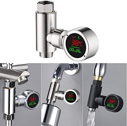 シャワー蛇口水温計、調整可能なLEDデジタルディスプレイ,C