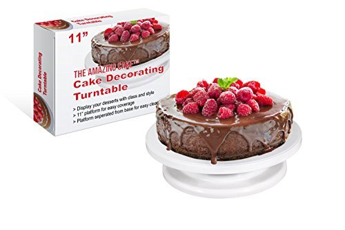 Duty Left Handed Single (The Amazing Cake Turntable Rotating Stand with 11-Inch Platform)