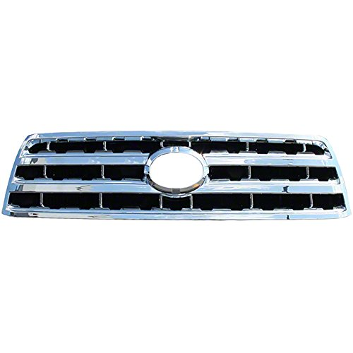 OxGord Front Grille Insert Overlay Trim for 2008-2016 Toyota Sequoia - Chrome Snap On Billet Style - Car, Truck, SUV, Van & Jeep Replacement Accessories