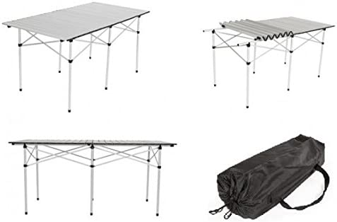 GELUSA Mesa Enrollable DE Aluminio: Amazon.es: Hogar