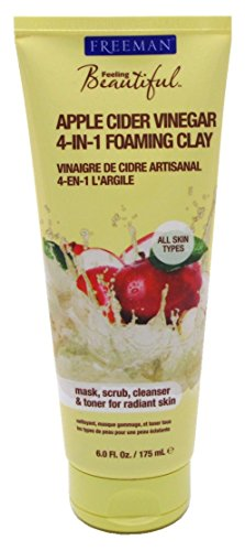 Freeman Facial Apple Cider Vinager 4-In-1 Foaming Clay (6 Ounce)