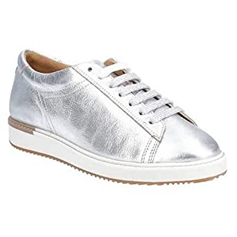 Hush Puppies Womens/Ladies Sabine BouncePLUS Leather Lace Up Trainer (UK Size: 4 UK) (Silver Metallic Leather)