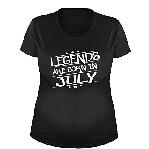 Legends Are Born Maternity in July T-Shirt 3XL Black