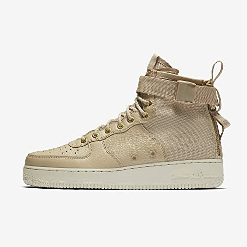 Light in Mushroom Scarpe Uomo e Air Force 1 Nike Beige 101 917753 Pelle SF Bianco Bone Tessuto Mid Wmns 8qwAxRT