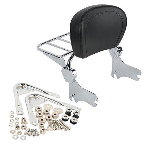 XFMT Backrest Sissy Bar Luggage Rack & Docking Hardware Kits Compatible with Harley Touring 1997-2008 ()