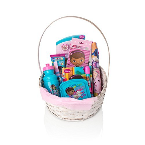 DISNEY DOC MC STUFFINS Gift Basket For Girls,(3-10 Years), 10 Piece Bundle Filled Basket of Baby/Teen Girls Gift Items, Perfect Ideas For Birthdays, Easter, Christmas, Get Well, or Other Occasion! CHINA SUPPLIER