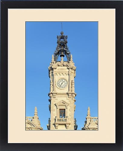 Framed Print of Europe, Spain, Valencia, City Hall Clock Tower by Fine Art Storehouse