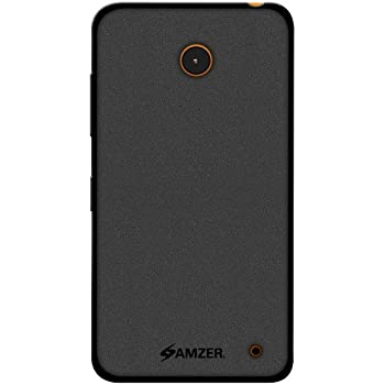 Amzer Pudding Soft Gel TPU Skin Fit Case Cover for Nokia Lumia 635/630 - Retail Packaging - Black