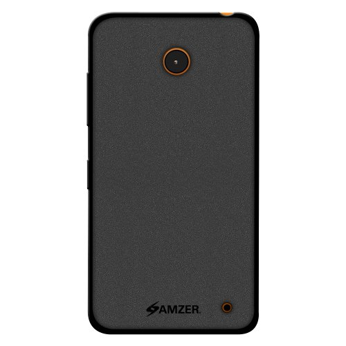 Amzer Pudding Soft Gel TPU Skin Fit Case Cover for Nokia Lumia 635/630 - Retail Packaging - Black (Cases Nokia 635)