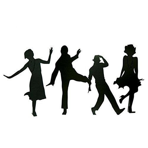 Dressed to the Nines Cardboard Cutout Silhouettes Kit (set of 4) - Various Sizes from 5' to 5'10'' High by TCDesignerProducts