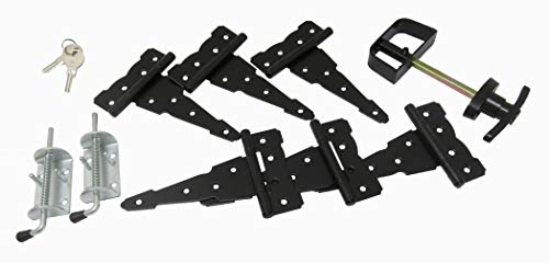 (Shed Door Hardware Kit, Colonial T Hinges 6