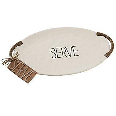 Mud Pie Bistro Serve Platter, White