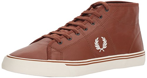 Fred Perry Sneaker Stivaletto Basso Uomo haydon Mid Leather Tan Cuoio - 40, Tan