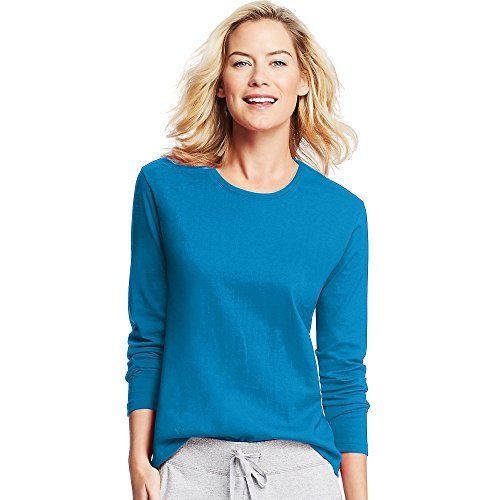 Hanes Women's Long-Sleeve Crewneck T-Shirt_Deep ()
