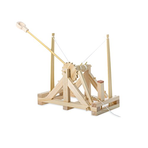 Leonardo Da Vinci Catapult Model: Real Working Easy to Assemble Wooden Toy by THUMBS UP (UK) LTD