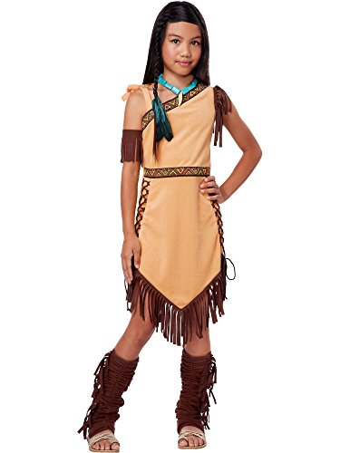 California Costumes Native American Princess Child Costume, Brown, Medium -