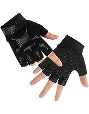 Kid Half Finger Fingerless Cycling Gloves Mitten for Monkey Bars Child Children MTB Exercise Skate Skateboard Accessories Roller Skating Other Sports Anti-Abrasion No-Slip Pro Ninja Line (Black)