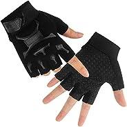 Kid Half Finger Fingerless Cycling Gloves Mitten for Monkey Bars Child Children MTB Exercise Skate Skateboard