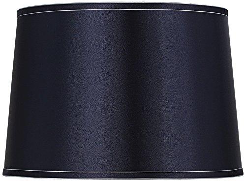 Navy Blue Drum (Sydnee Navy with Silver Trim Drum Shade 14x16x11 (Spider))