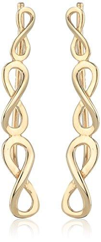 14k Yellow Gold Eternity Symbol French Hook Dangle Earrings
