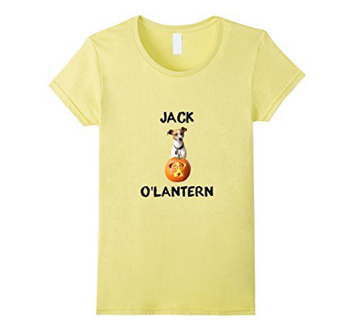 Womens Jack (Russell) O'Lantern T-Shirt Large (Yellow Lantern T-shirt)