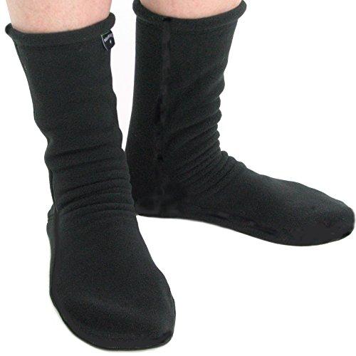 Polar Feet Adults' Socks Regular Black XL - Fleece Socks Men