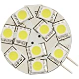 Ledwholesalers G4 Base Disc Type Side Pin 10 5050smd LED 10 Watt Halogen Replacement for Rv Camper Trailer Boat Marine Warml White Package of 5 1109wwx5