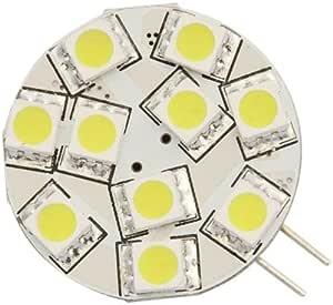 Warm White Pack of 10 Bulbs, Warm White LEDwholesalers G4 Base Side-Pin 3-LED Disc Type Bulb with Heat Sink 1118WWx10